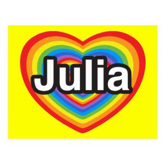 I love Julia. I love you Julia. Heart Postcard