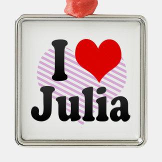 I love Julia Christmas Tree Ornament