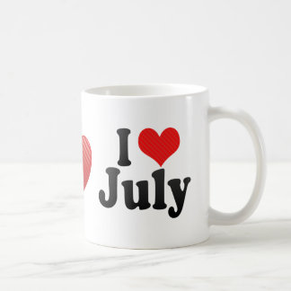 I Love July Classic White Coffee Mug
