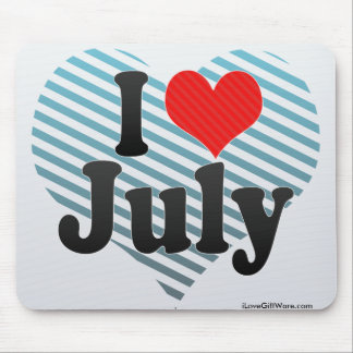 I Love July Mouse Pad
