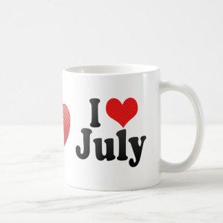 I Love July Coffee Mug