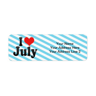 I Love July Return Address Label