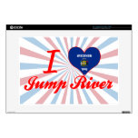 "I Love Jump River, Wisconsin Decals For 15"" Laptops"