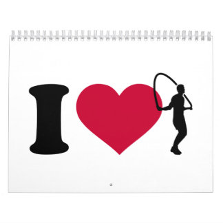 I love Jump rope Calendar