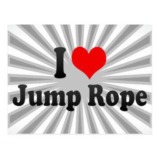 I love Jump Rope Postcard