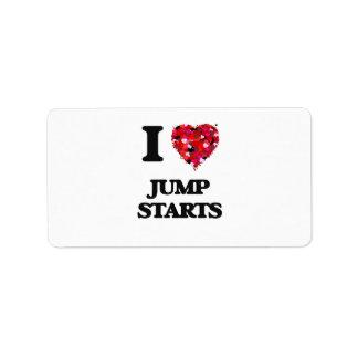 I Love Jump Starts Address Label