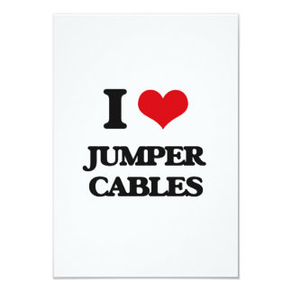I Love Jumper Cables Customized Announcement Card