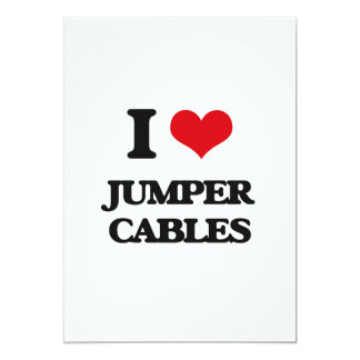 I Love Jumper Cables Card