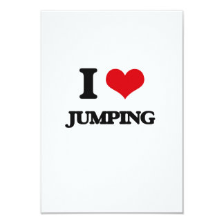 I Love Jumping 3.5x5 Paper Invitation Card