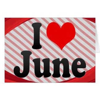 I love June Card