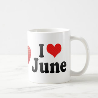 I Love June Classic White Coffee Mug