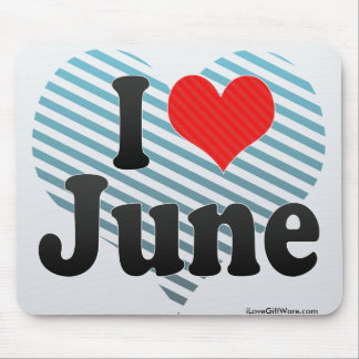 I Love June Mouse Pad