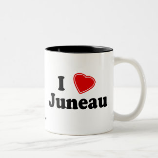 I Love Juneau Two-Tone Coffee Mug