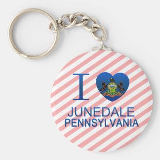 I Love Junedale, PA Basic Round Button Keychain