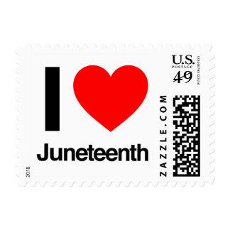 i love juneteenth postage stamp