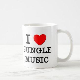 I Love Jungle Music Mugs
