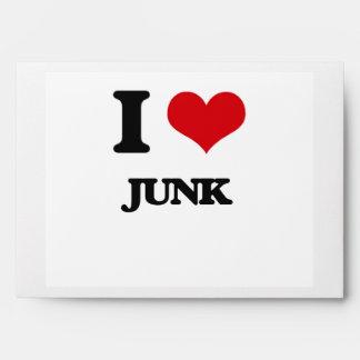 I Love Junk Envelope
