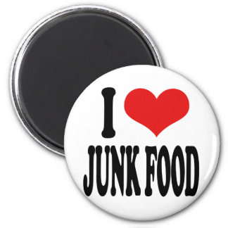 I Love Junk Food 2 Inch Round Magnet