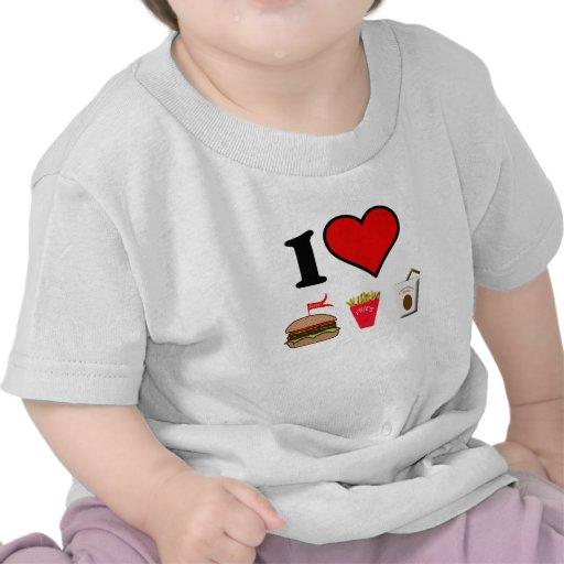 I Love Junk food Tee Shirt