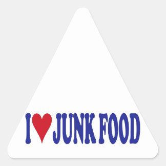 I Love Junk Food Triangle Sticker