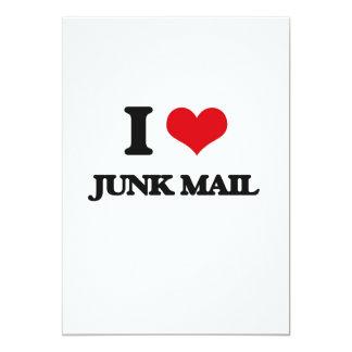 I Love Junk Mail 5x7 Paper Invitation Card