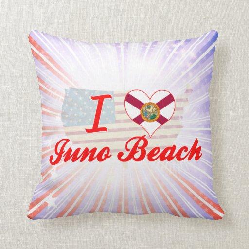 I Love Juno Beach, Florida Pillow