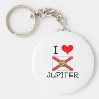 I Love JUPITER Florida Keychain