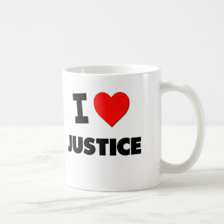 I Love Justice Coffee Mug
