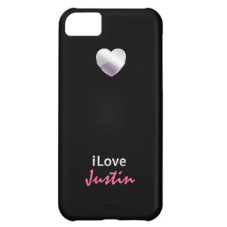 I Love Justin Cover For iPhone 5C