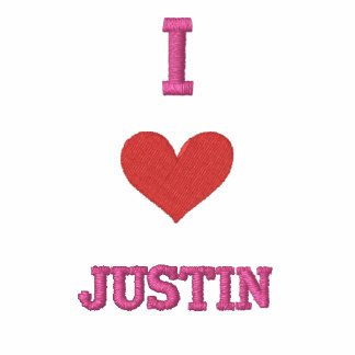 """""""I LOVE JUSTIN """" SHIRT - Customized EMBROIDERY"""