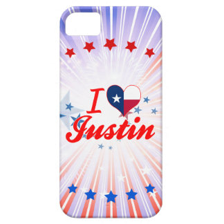I Love Justin, Texas iPhone 5 Cases