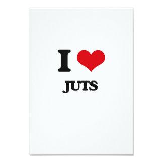 I Love Juts 3.5x5 Paper Invitation Card
