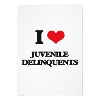 I Love Juvenile Delinquents 5x7 Paper Invitation Card