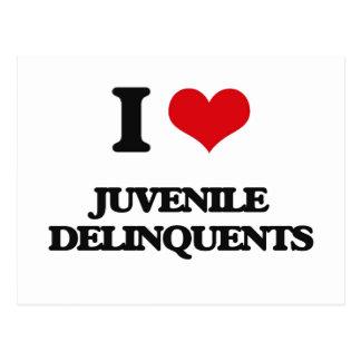 I Love Juvenile Delinquents Postcard