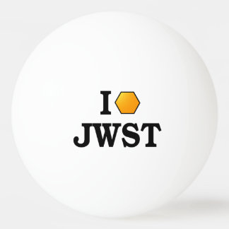 I Love JWST (dark text) Ping Pong Ball
