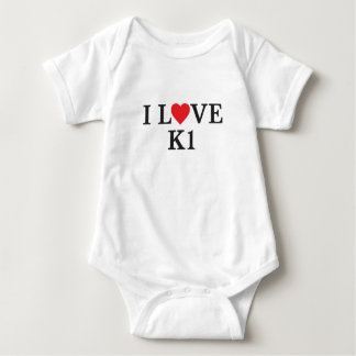 I Love K1 Baby Bodysuit