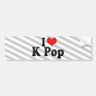 I Love K Pop Car Bumper Sticker