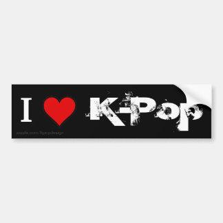 I Love K-Pop Bumper Sticker