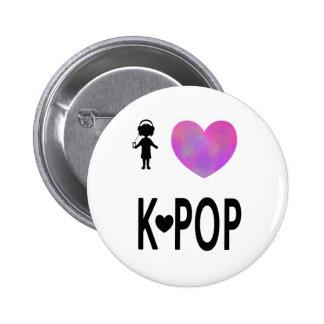 I love K-pop Button