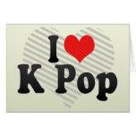 I Love K Pop Card