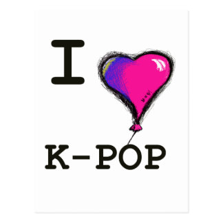 I Love K-POP (hwaiting) T-shirt Tee Postcards