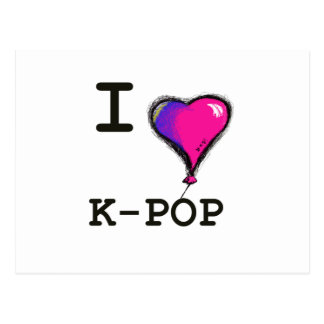 I Love K-POP (hwaiting) T-shirt Tee Post Card