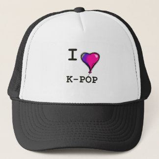 I Love K-POP (hwaiting) T-shirt Tee Trucker Hat