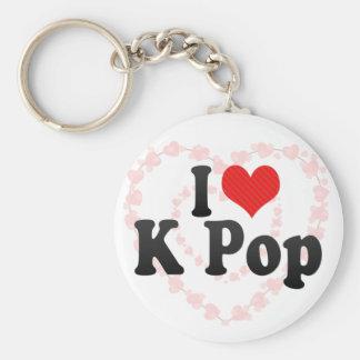 I Love K Pop Keychain