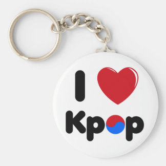 I love K-pop keychain