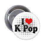I Love K Pop Pinback Buttons