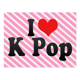 I Love K Pop Post Card
