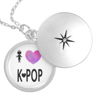 I love K-pop Silver Plated Necklace