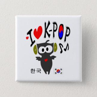 I love k-pop  txt owl vector art Square Button