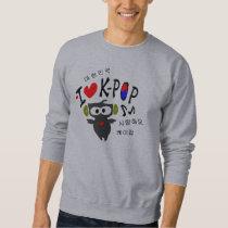 I love K-POP TXT OWL VECTOR Basic Sweatshirt